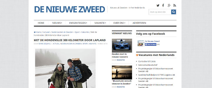 In the papers: De nieuwe Zweed