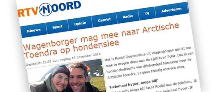 Interview with local radiostation RTV Noord | In the papers